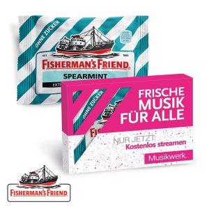Fisherman´s Friend als Werbeartikel mit Logo im PRESIT Online-Shop bedrucken lassen