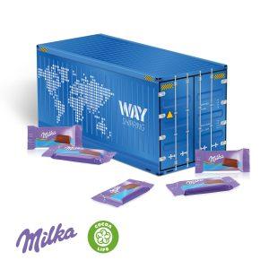 3D Präsent Container Milka als Werbeartikel mit Logo im PRESIT Online-Shop bedrucken lassen