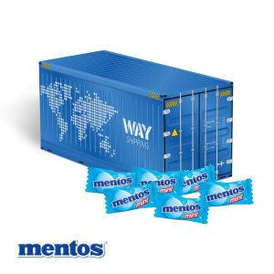 3D Präsent Container Mentos als Werbeartikel mit Logo im PRESIT Online-Shop bedrucken lassen