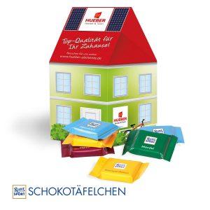 3D Präsent Haus Ritter Sport als Werbeartikel mit Logo im PRESIT Online-Shop bedrucken lassen