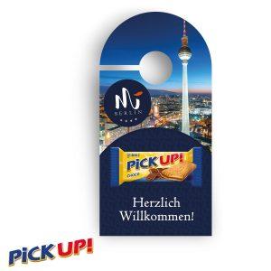 Promotion-Anhänger PickUp als Werbeartikel mit Logo im PRESIT Online-Shop bedrucken lassen