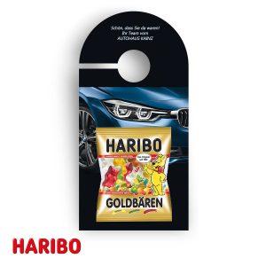 Promotion-Anhänger Haribo als Werbeartikel mit Logo im PRESIT Online-Shop bedrucken lassen