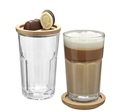 Latte Macchiato Gläser als Werbeartikel bedrucken