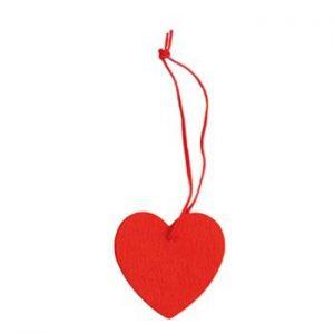 Filzanhänger Herz als Werbeartikel mit Logo im PRESIT Online-Shop bedrucken lassen