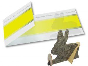 Bastelkarte Hase als Werbeartikel mit Logo im PRESIT Online-Shop bedrucken lassen