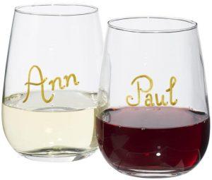 Barola Weinglas-Set mit Marker im PRESIT Werbeartikel Online-Shop