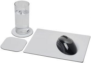 Brite-Mat® Mauspad und Untersetzer-Set im PRESIT Werbeartikel Online-Shop