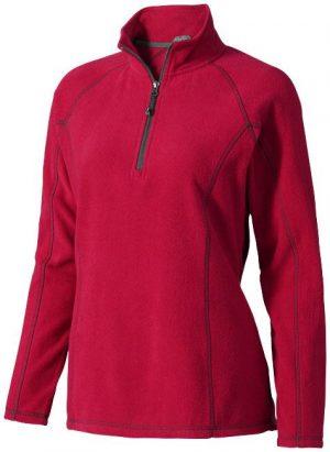 Bowlen Damen Langarm Fleeceshirt mit 1/4 Reißverschluss im PRESIT Werbeartikel Online-Shop