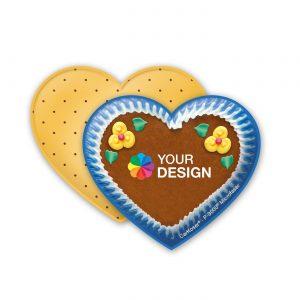 CarKoser® 2in1 Classic Scheibenschwamm Herzform als Werbeartikel mit Logo im PRESIT Online-Shop bedrucken lassen