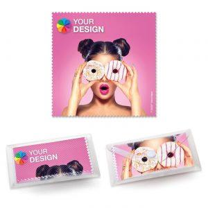 POLYCLEAN Brillenputztuch 15x15 cm als Werbeartikel mit Logo im PRESIT Online-Shop bedrucken lassen