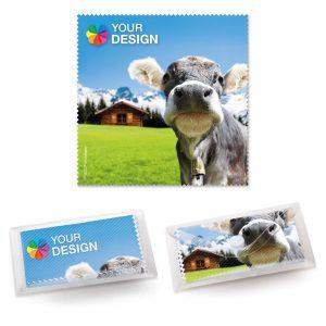 POLYCLEAN Brillenputztuch 18x18 cm als Werbeartikel mit Logo im PRESIT Online-Shop bedrucken lassen