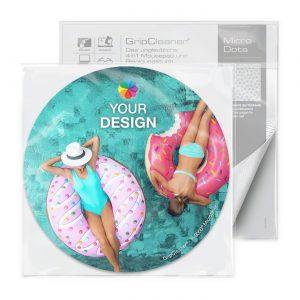 GripCleaner® 4in1 Mousepad Kreis 20cm Ø als Werbeartikel mit Logo im PRESIT Online-Shop bedrucken lassen