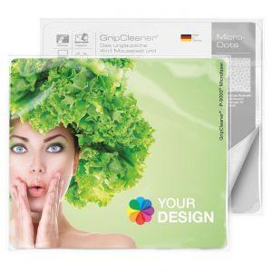 GripCleaner® 4in1 Mousepad 23x20cm als Werbeartikel mit Logo im PRESIT Online-Shop bedrucken lassen