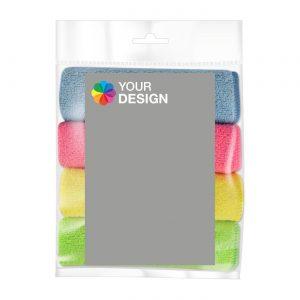 Microfaser PowerPack mit Werbe-Etikett individuell als Werbeartikel mit Logo im PRESIT Online-Shop bedrucken lassen