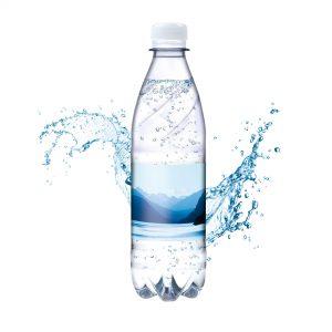 500 ml Tafelwasser spritzig (Flasche Budget) als Werbeartikel mit Logo im PRESIT Online-Shop bedrucken lassen
