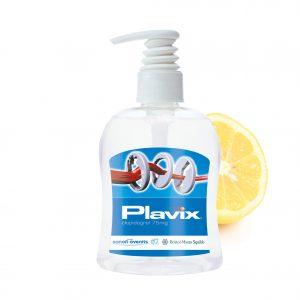 300 ml PET Spender transp. - Handreinigungsgel antibakteriell als Werbeartikel mit Logo im PRESIT Online-Shop bedrucken lassen