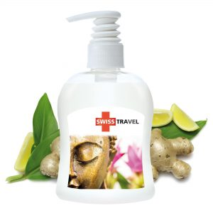 300 ml PET Spender transp. - Handbalsam Ingwer - Limette als Werbeartikel mit Logo im PRESIT Online-Shop bedrucken lassen