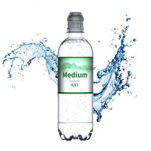 500 ml Quellwasser medium (Sportcap) als Werbeartikel mit Logo im PRESIT Online-Shop bedrucken lassen