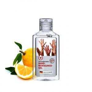 50 ml Flasche - Handreinigungsgel antibakteriell als Werbeartikel mit Logo im PRESIT Online-Shop bedrucken lassen