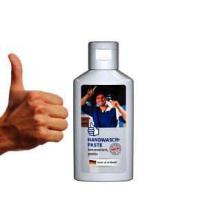 50 ml Flasche weiß  - Handwaschpaste als Werbeartikel mit Logo im PRESIT Online-Shop bedrucken lassen