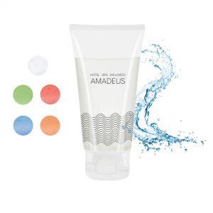 50 ml Tube mit Klappdeckel - Duschgel Body & Hair als Werbeartikel mit Logo im PRESIT Online-Shop bedrucken lassen