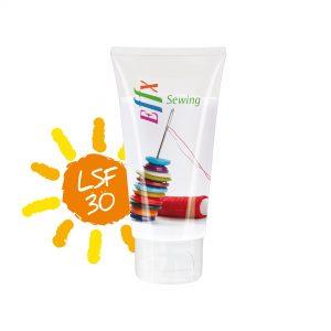50 ml Tube mit Klappdeckel - Sonnenmilch LSF 30 als Werbeartikel mit Logo im PRESIT Online-Shop bedrucken lassen
