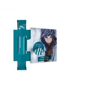 TeaFlyer ClapCard inkl. 1 Bio TeaStick Individual als Werbeartikel mit Logo im PRESIT Online-Shop bedrucken lassen