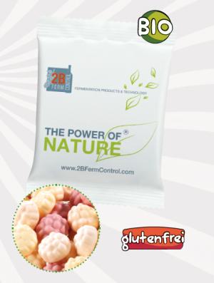 BIO JO-Frutti Werbetüte  Inhalt :  9 g als Werbeartikel mit Logo im PRESIT Online-Shop bedrucken lassen