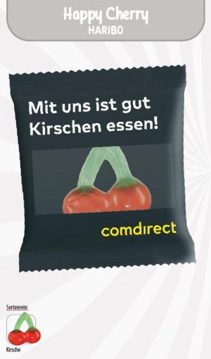 HARIBO Happy Cherry Werbetüte  Inhalt :  1 Stück als Werbeartikel mit Logo im PRESIT Online-Shop bedrucken lassen