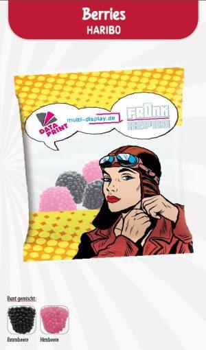 HARIBO Berries Werbetüte  Inhalt :  4 Stück als Werbeartikel mit Logo im PRESIT Online-Shop bedrucken lassen