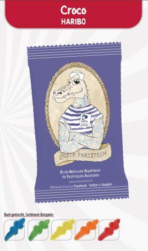 HARIBO Croco Werbetüte  Inhalt :  1 Stück als Werbeartikel mit Logo im PRESIT Online-Shop bedrucken lassen