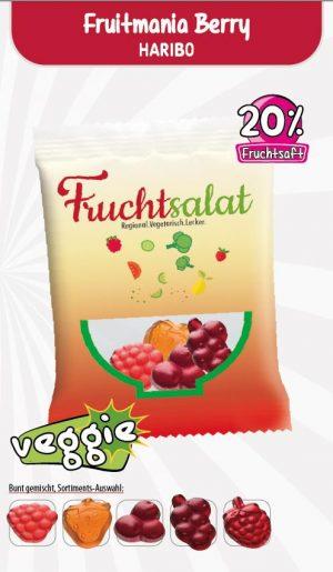 HARIBO Fruitmania Berry Werbetüte  Inhalt :  12 g als Werbeartikel mit Logo im PRESIT Online-Shop bedrucken lassen