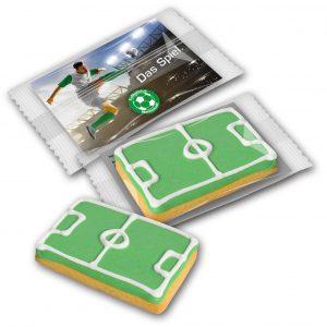 Cookie Fußballfeld als Werbeartikel mit Logo im PRESIT Online-Shop bedrucken lassen