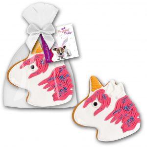 Einhorn Lebkuchen mit Logo als Werbeartikel mit Logo im PRESIT Online-Shop bedrucken lassen
