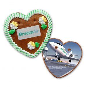 Bedruckte Rückentafel für Herz 175g Größe 5 als Werbeartikel mit Logo im PRESIT Online-Shop bedrucken lassen