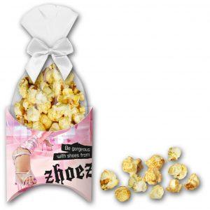 Karamell-Popcorn in Präsentbox als Werbeartikel mit Logo im PRESIT Online-Shop bedrucken lassen
