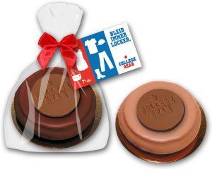 Baumkuchenring mit Logo - Prägung als Werbeartikel mit Logo im PRESIT Online-Shop bedrucken lassen