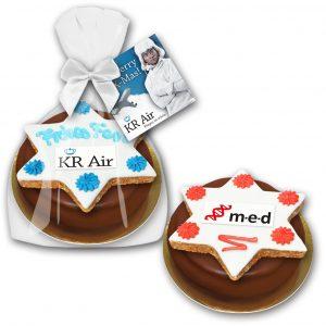 Baumkuchenring mit Zimtstern Premium als Werbeartikel mit Logo im PRESIT Online-Shop bedrucken lassen