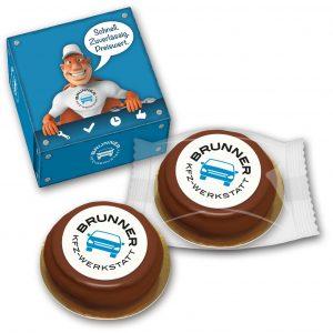 Baumkuchenring in bedrucktem Karton als Werbeartikel mit Logo im PRESIT Online-Shop bedrucken lassen