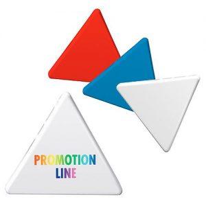 Magnet Dreieck als Werbeartikel mit Logo im PRESIT Online-Shop bedrucken lassen