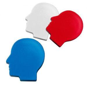Magnet Kopf als Werbeartikel mit Logo im PRESIT Online-Shop bedrucken lassen