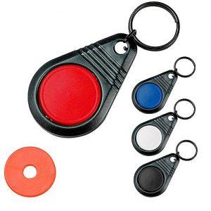 Dreh-Schlüsselanhänger Point mit Chip als Werbeartikel mit Logo im PRESIT Online-Shop bedrucken lassen