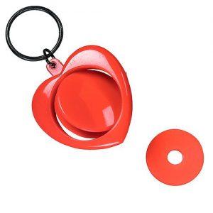 Dreh-Schlüsselanhänger Heart als Werbeartikel mit Logo im PRESIT Online-Shop bedrucken lassen