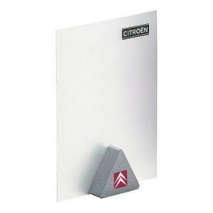 Notizhalter Magnet-Dreieck als Werbeartikel mit Logo im PRESIT Online-Shop bedrucken lassen