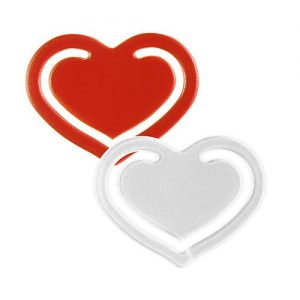 Papierklammer Herz als Werbeartikel mit Logo im PRESIT Online-Shop bedrucken lassen