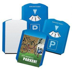 Parkscheibe Basic als Werbeartikel mit Logo im PRESIT Online-Shop bedrucken lassen