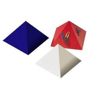Büroklammernhalter Magnet-Pyramide als Werbeartikel mit Logo im PRESIT Online-Shop bedrucken lassen