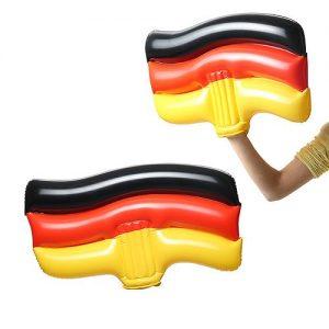 Aufblasbare Winkeflagge Deutschland als Werbeartikel mit Logo im PRESIT Online-Shop bedrucken lassen