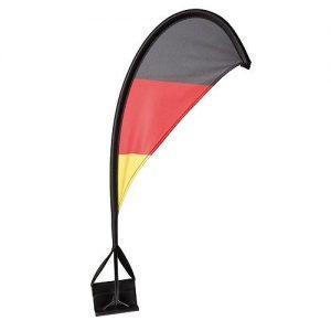 Autofahne Windsegel Deutschland als Werbeartikel mit Logo im PRESIT Online-Shop bedrucken lassen