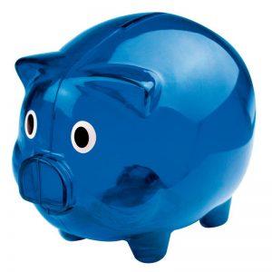 Transparentes Sparschwein als Werbeartikel mit Logo im PRESIT Online-Shop bedrucken lassen